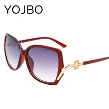 YOJBO Hot Sale Rushed Adult Polycarbonate Mirror Round Sunglasses Women 2017 Original Fashion Brand Designer 8234(China)