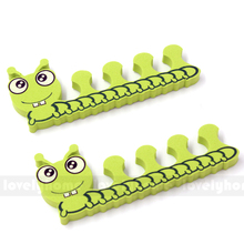 2 pcs/ pair Lovely Nail Art Soft Finger Toe Separator Cartoon Pattern Pedicure Manicure Tools Cute Animal Bear Pig Duck Fog