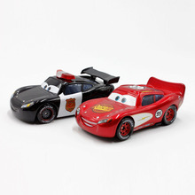 Disney Pixar Car Movie 1:55 Metal Diecast Speed And Police Lightning McQueen 2pcs Set Toy Cars New Loose