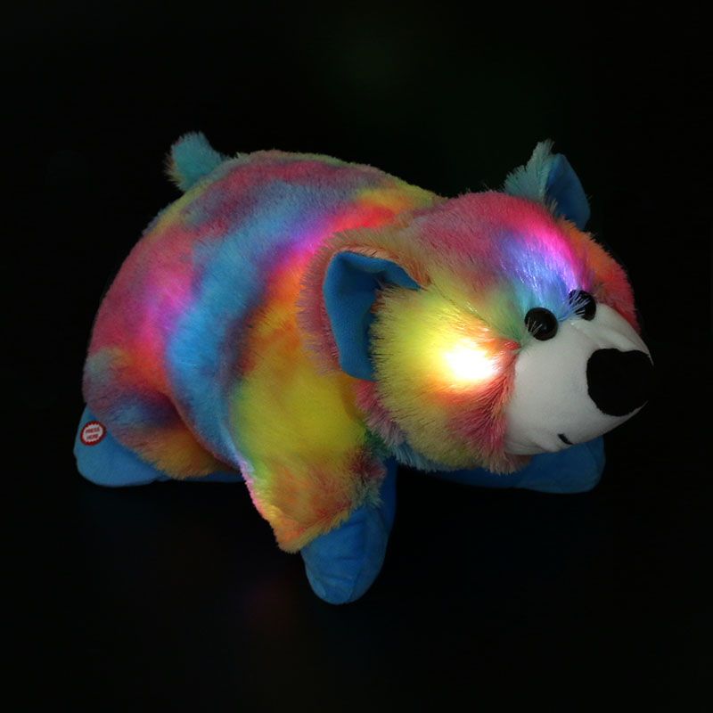 Dropshipping Free Shipping 40cm Night Glowing Bear Pillow Stuffed Animals Toys LED Polar Bear Best Gifts for Kids and Babies(China (Mainland))