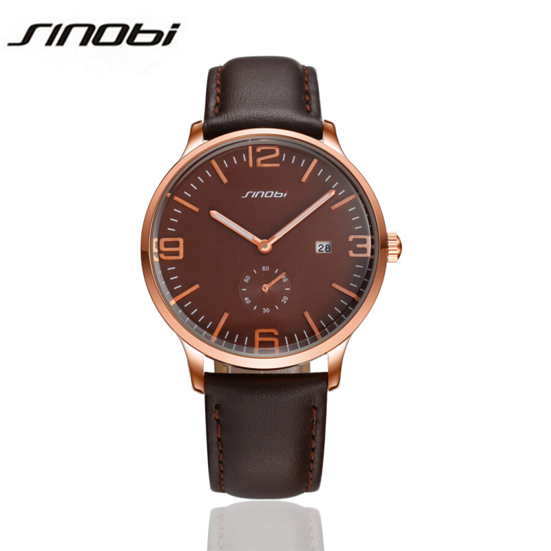 2017 New Men Quartz Hour Date Clock Men Casual Sports Watches Men Leather Wrist Military Watch Brand Relogio Masculino AA101<br><br>Aliexpress