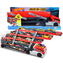 Hot Wheels Mega Hauler Multi-layer Container Vehicles Trucks Transporter Toy Children's Day Gift(China)