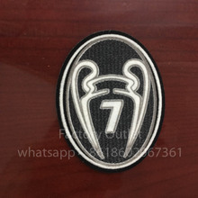 10 pcs Champions League 7 Times Trophy Soccer patch badge Cashmere material(China)