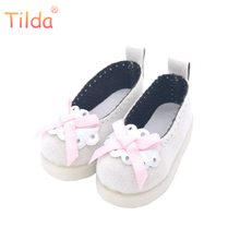 Tilda 5cm 1/6 Doll Shoes For BJD Doll,Mini Boots for Textile Cloth Doll Boots PU Leather Shoes for Handmade BJD Doll Accessories(China)
