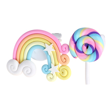 Auto Perfume Lollipop and Rainbow Car Air Freshener for Lady/girl Car-styling Solid Fragrance Air Outlet Ornament Decoration(China)
