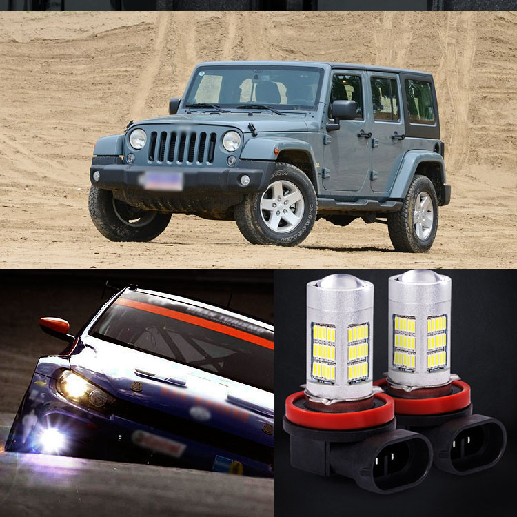 2pcs 72 SMD Daytime Running Light Bulbs LED Fog Lamp For For Jeep Wrangler 2013-2014<br><br>Aliexpress