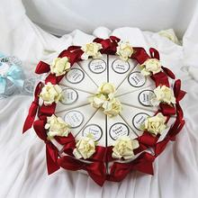 10Pcs/Lot Triangle Shape Candy Box With Butterfly Ribbon Romantic Wedding Decoration Box For Christmas Party Candy Cake Box K3