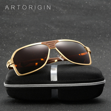 ARTORIGIN Brand Men Sunglasses Polarized Fashion Cool Rectangle Flat Top Sun Glasses For Men Car Diving Glasses With Box AT206(China)