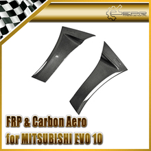 EPR Car Styling For Mitsubishi Evolution EVO 10 Carbon Fiber VS Style Wide Ver.Side Air Panel 2pcs In Stock(China)
