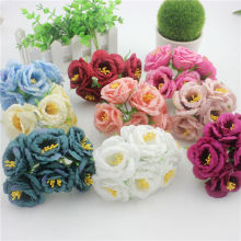 6 pcs free freight peony flower garland material fabric of silk flower simulation wave ripple.(China)