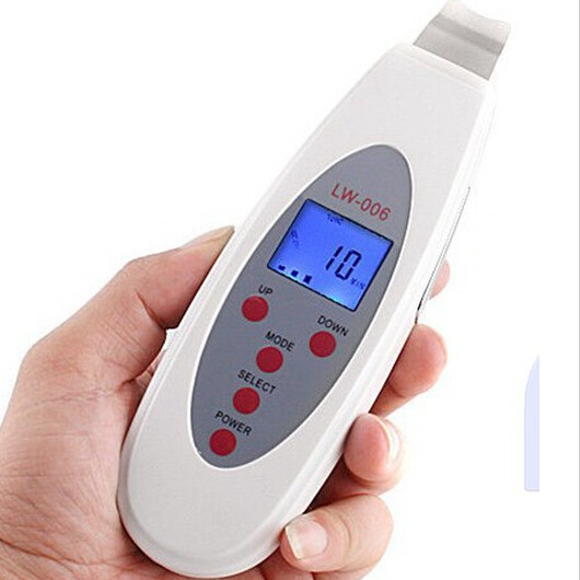 LW 006 Portable Ultrasonic Facial Cleaner Face Care Tool LCD Digital Acne Removal Skin Cleaning Ultrasound Peeling Spa Beauty<br>