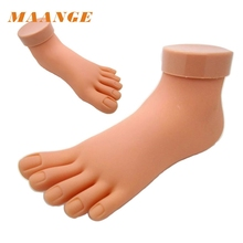 2017 Hot Flexible Soft Plastic Mannequin Model Hand Practice Tool Practice Foot Model Mar6(China)