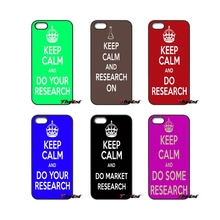 keep calm and do research For iPod Touch iPhone 4 4S 5 5S 5C SE 6 6S 7 Plus Samung Galaxy A3 A5 J3 J5 J7 2016 2017 Case Cover