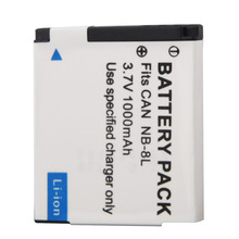 For Canon PowerShot A3300 Camera Replacement Batteria 1000mAh NB-8L NB8L 8L Battery A3200 A3100 A3000 A2200 A1200 IS Battery