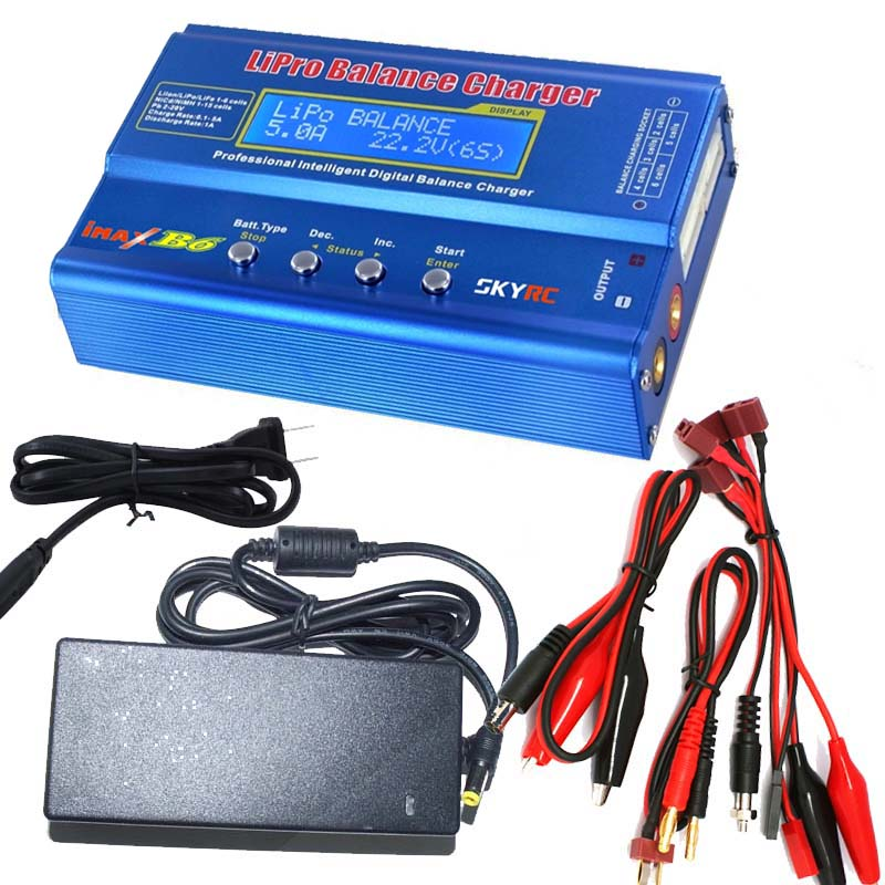 In Stock Promotion Original SKYRC IMAX B6 Lipo Battery Digital Balance Charger with 12V 5A Power Supply Tamiya Cable(China (Mainland))