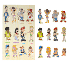 Unique Puzzle Relatives people Recognition Puzzle Educational Toy For Boy girls  Baby Kids Puzzles for children