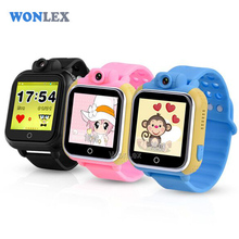 Wonlex 3G WCDMA Smart Kids Wristwatch GPS Watch Tracker LBS GPS Wifi Positioning with Rotatable Camera Baby Watch