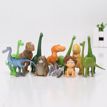 12pcs/lot The Good Dinosaur Action Figure Toy 2.5-7cm PVC Cartoon Figure Toys For Children Anime Brinqudoes