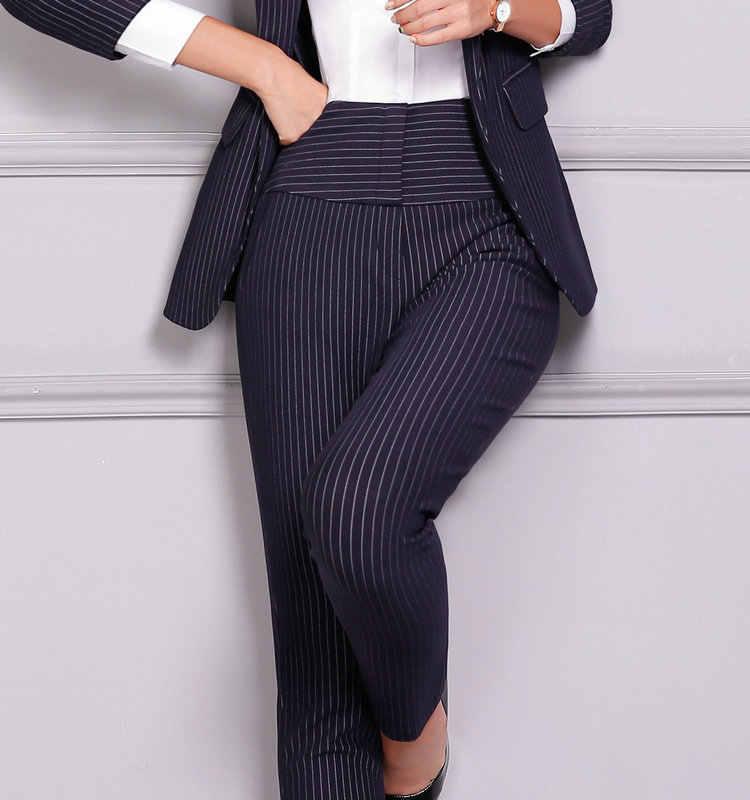 9770e28631 Moda de lujo profesional negocios pantalones formales mujeres recta Pantalones  mujer Oficina carrera estilo 4XL más