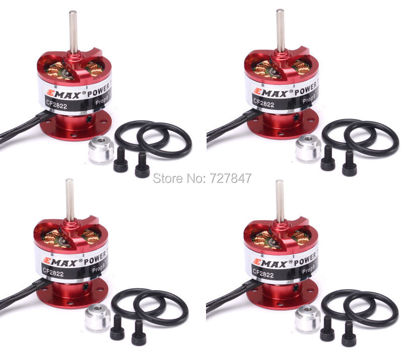 4Pcs EMAX CF2822 1200KV Brushless Motor w/Prop Saver for RC Airplane Multicopter<br>
