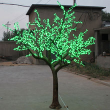 2.5Meter 2400leds outdoor blossom tree with led lights artificial shape white lights decoration free shipping Europ/America(China)