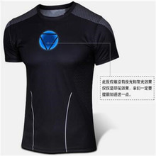 2017 The supply of goods sell like hot cakes captain America the avengers alliance breathable quick-drying short-sleeved T-shirt(China)