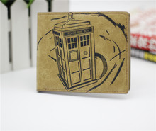 Doctor Who wallet cosplay billfold men and women students personality short animated cartoon fashion purse