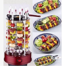 Automatic rotary barbecue grill and Russian smokeless electric oven roasted on a skewer machine