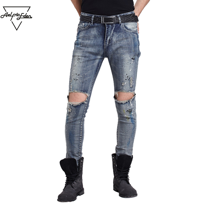Aelfric Eden Men Jeans Pants Blue Denim Boots Elastic Jeans Business Casual Pants Skinny Jeans Winter Pants of Men Joggers Yg079Îäåæäà è àêñåññóàðû<br><br>
