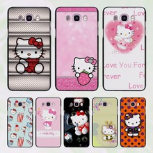 cute Hello kitty design hard black Case for Samsung Galaxy J7 J5 2016 J7 Prime J510 J5 Prime J3 J2 2016 J1