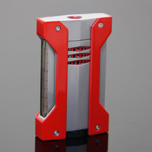 Metal Side Press 1 Torch Jet Flame Cigar Lighter for COHIBA Cigar(China)