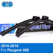 Oge Wiper Blades For Peugeot 408 2010 2011 2012 2013 2014 2015 2016 High Quality Rubber WindscreenCar Accessories(China)