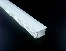 50x2m 2212D aluminum profile with FROSTED cover for width up to 11mm led strips indoor lights wood wall cabinet shelf lighting(China)