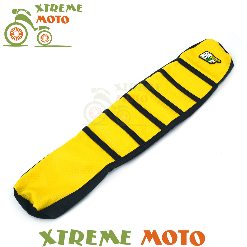 Yellow Rubber Vinyl Motorcycle Gripper Soft Seat Cover For Suzuki DRZ400 2000 - 2015 01 02 03 04 05 06 07 08 09 10 11 12 13 14<br>