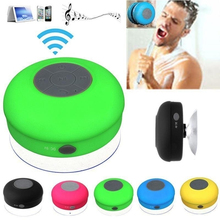 Mini Portable Shower Waterproof Wireless Bluetooth Speaker Subwoofer Car Handsfree Call Music Suction Mic For iOS Android Phone(China)