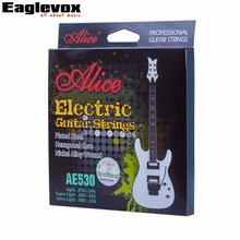 Electric Guitar Strings Plated Steel Set Coated Nickel Alloy Wound Alice AE530