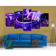 Large Canvas Painting 5 Panel Music For Bedroom Living Room Printed Modular Radio Framework Picture Home Wall Art Decor(China)