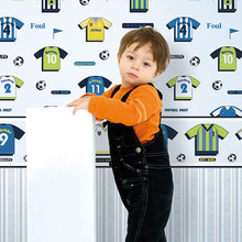 Eco-friendly non-woven soccer jersey cartoon child background wallpaper football sport wallpaper kids room wallpaper(China)