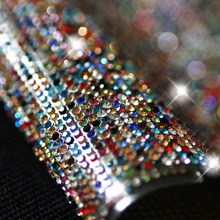 BlingBling crystal rhinestone banding,hotfix 2mm mix colorful rhinestone trimming 1sheet/pcs,24x40cmwedding cake decorative tape
