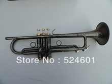Factory direct sale grind arenaceous black nickel on the surface of artificial carve patterns or designs on woodwork  Bb trumpet