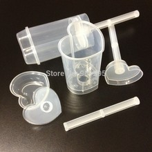 wholsesale -NEW! free shipping Heart shaped  Empty push up pop cake containers for cupcake shooters with lid 12pcs/lot