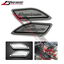 Motorcycle Modified Aluminum Gas Tank Pad Side Cover Cap For Suzuki Hayabusa GSXR1300 GSX1300R 1999-2014