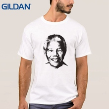 Men's TShirt Nelson Mandela Trace Tribute Rip Stylish Homme Black Tee Shirt Size S To 3XL O Neck Short Sleeve t sark Polyester(China)