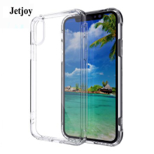 JETJOY Shock Absorbing Clear Back Panel Anti-scratch Capa For Apple iPhone X 10 Ten Cases TPU Bumper Enhance The Volume Thin(China)