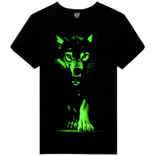 Novelty 3D Men's Noctilucent T-shirts Cool Tops&Tees  Luminous Print T-shirts Casual Round Neck 3D Short Sleeve T-shirts 2016