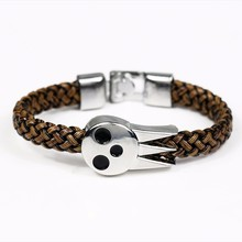 Fashion jewelry HOT Anime Soul Eater SOUL EATER Bracelet & Bangles Soul Logo Leather Weave Jewelry(China)