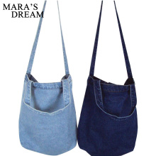 Buy Mara's Dream Women Bag Denim Tote Ladies Large Capacity Brief Handbags Female Shopping Book Teacher Nurse Organizer Shoulder Bag for $4.85 in AliExpress store