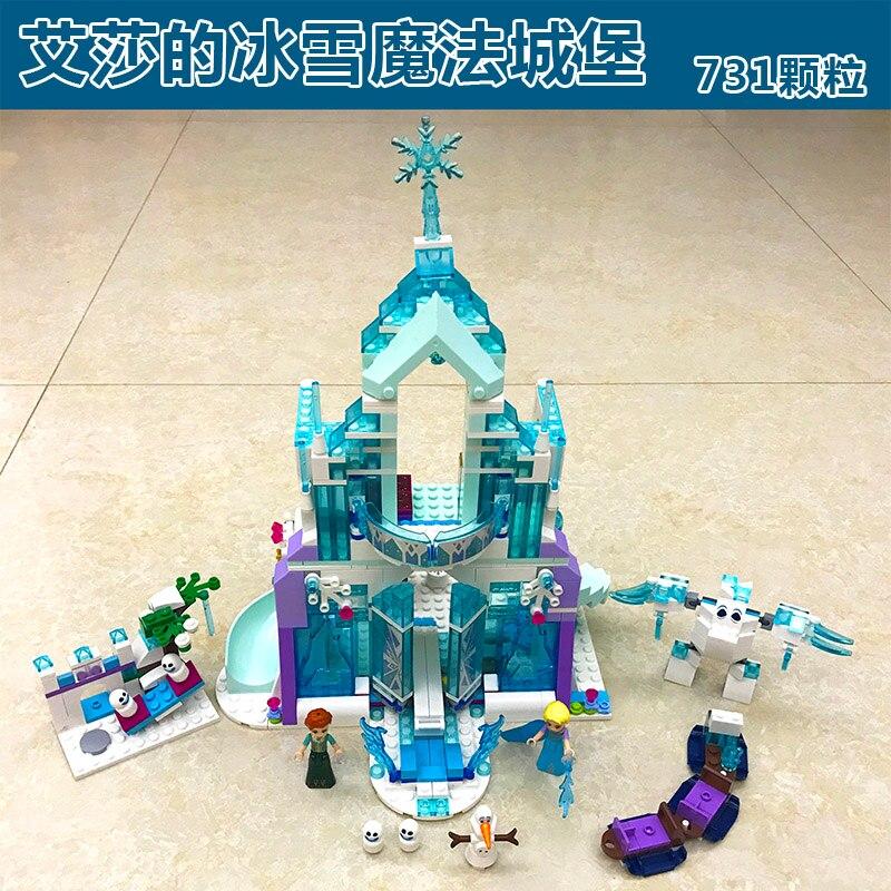 LEPIN 25002 Girl Series Elsa Magic Ice Castle Palace DIY Set Model Building Kits Blocks Bricks Children Toys Christmas Gift<br>