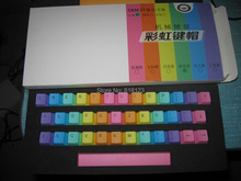 37 key set keycool ducky filco PBT keycaps rainbow keycaps mechanical keyboard Poker PBT side print keycaps keycool 87(China)