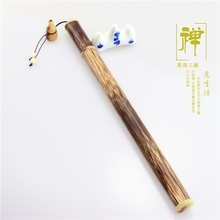 Gold silk flower horn manufacturers selling   teachers appliance aloes smoked incense burner tube joss stick pipe sandalwood
